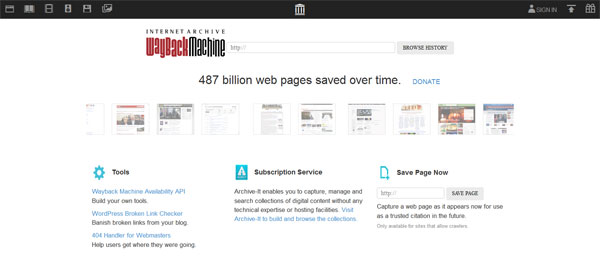 Wayback Machine FREE Internet Archive Tool