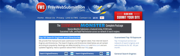 FREE Website Submission Tool
